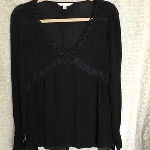 Black Peasant Style Top